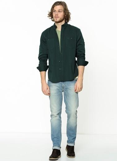 Oxford Yaka Uzun Kollu Slim Fit Gömlek-Wrangler